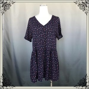 Staring at Stars Navy Floral Dress #1196